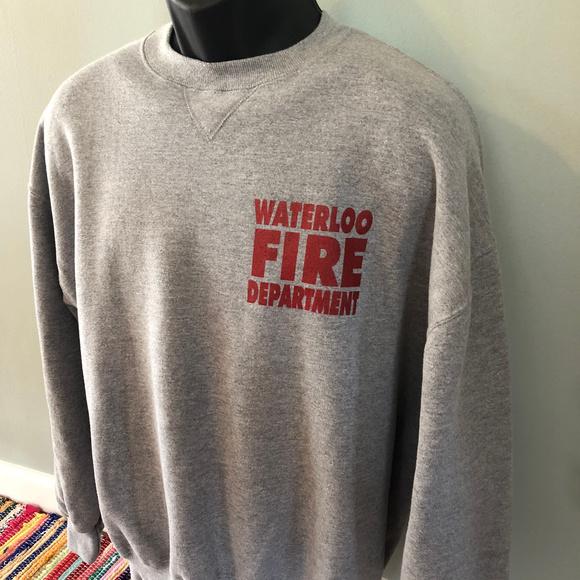Vintage Other - 80s Waterloo Fire Department Sweatshirt Seneca